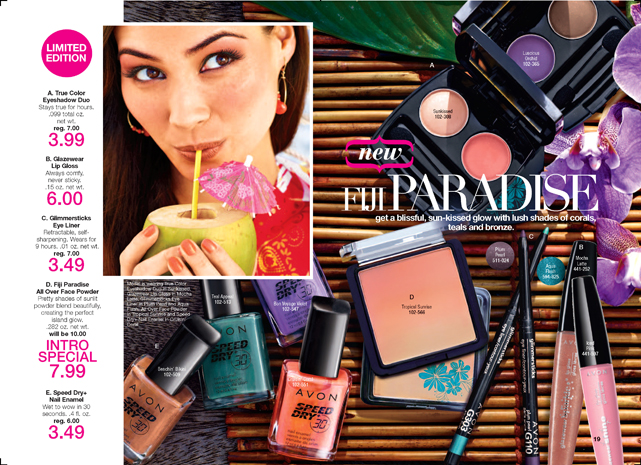Fiji Paradise Makeup from Avon