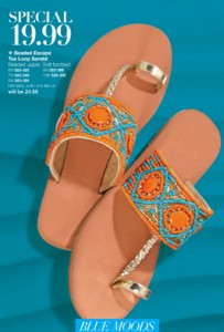 Avon Beaded Escape Toe Loop Sandal