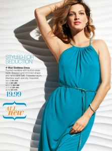 Avon Blue Goddess Dress