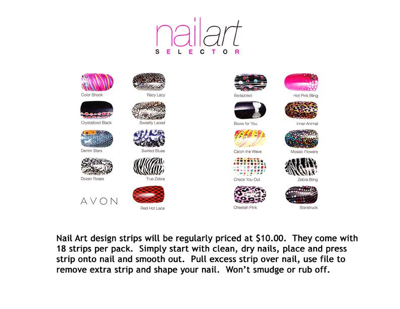 Avon Campaign 14 Nail Art Strips