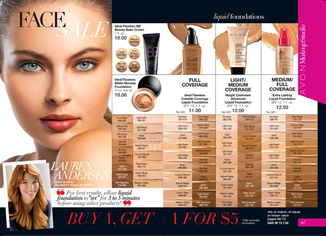 Avon Face Sale