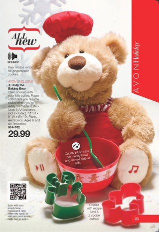 Avon Holly the Baking Bear
