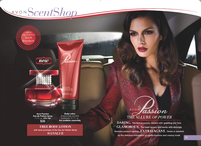 Avon Passion Fragrance - Free Body Lotion