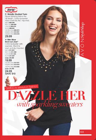 Avon Sparkling Sweater