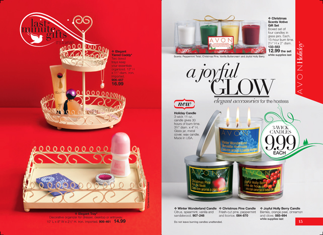 Avon Holiday Candles