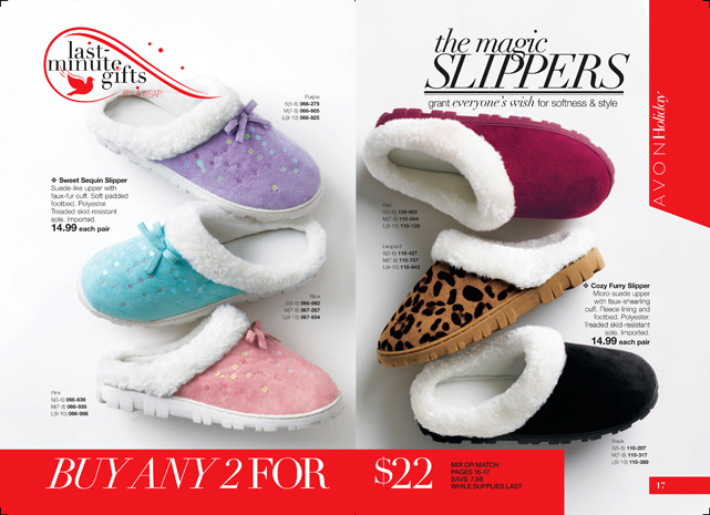 Avon Plush Slipper