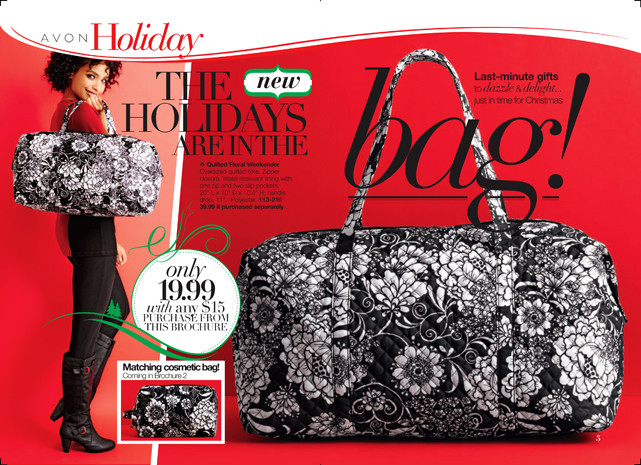 Avon Quilted Floral Weekender Bag Beauty Makeup And More