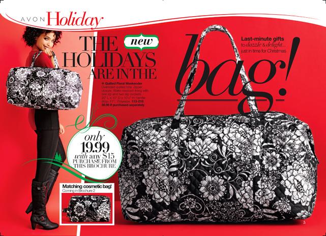 Avon Quilted Floral Weekender Bag