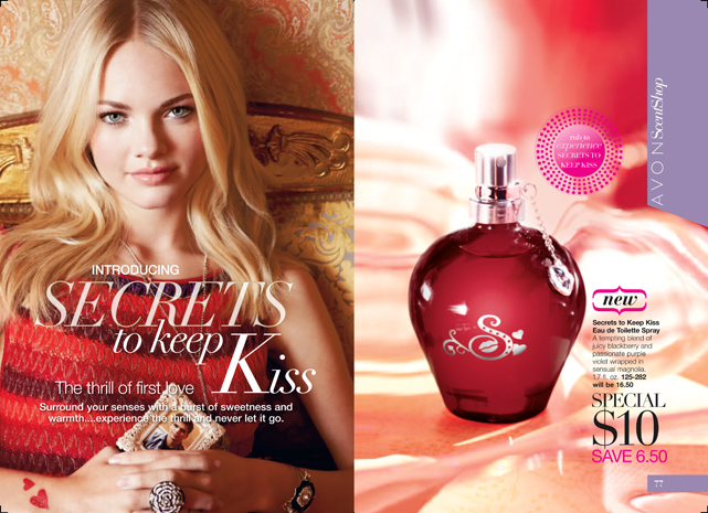 Shop Avon Campaign 02 Brochure - Secrets to Keep Kiss