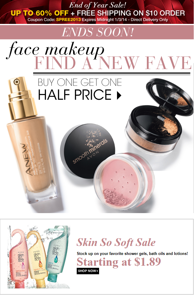 Avon 60 Percent Off Free Shipping Sale