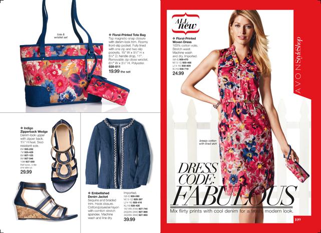 Avon Flirty Floral Fashions