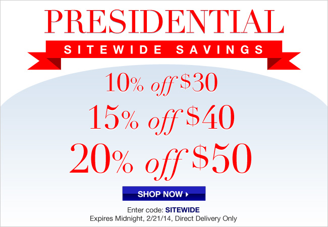 Avon Presidential Sitewide Savings