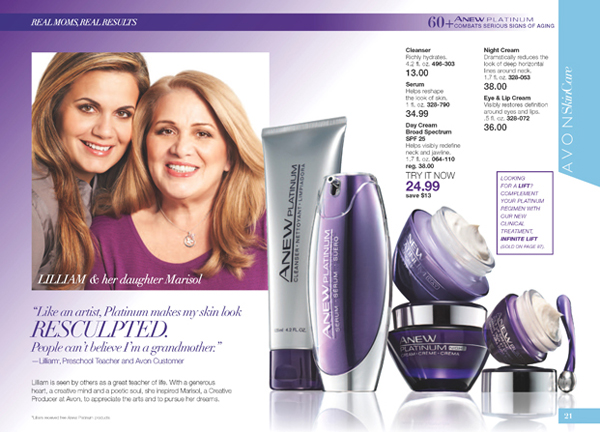 Avon Anew Platinum Skin Care Collection