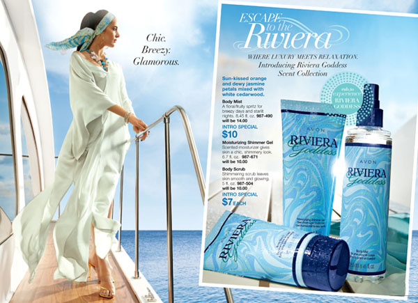 Avon Riviera Goddess Scent Collection