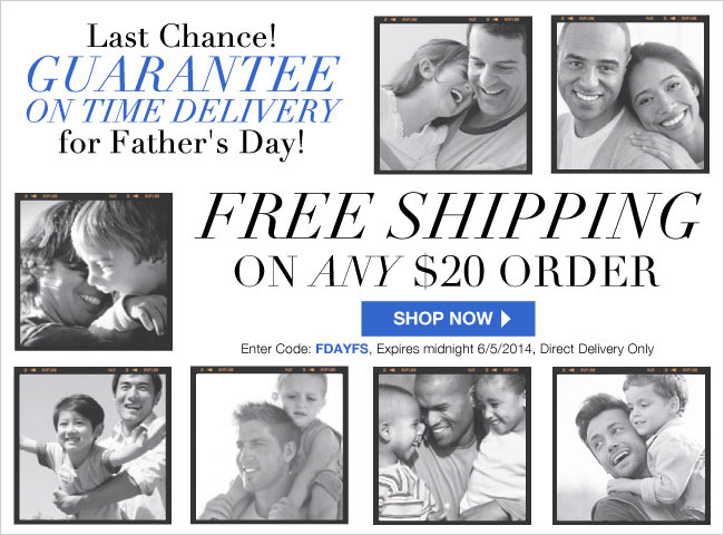 Fathers Day Free Shipping