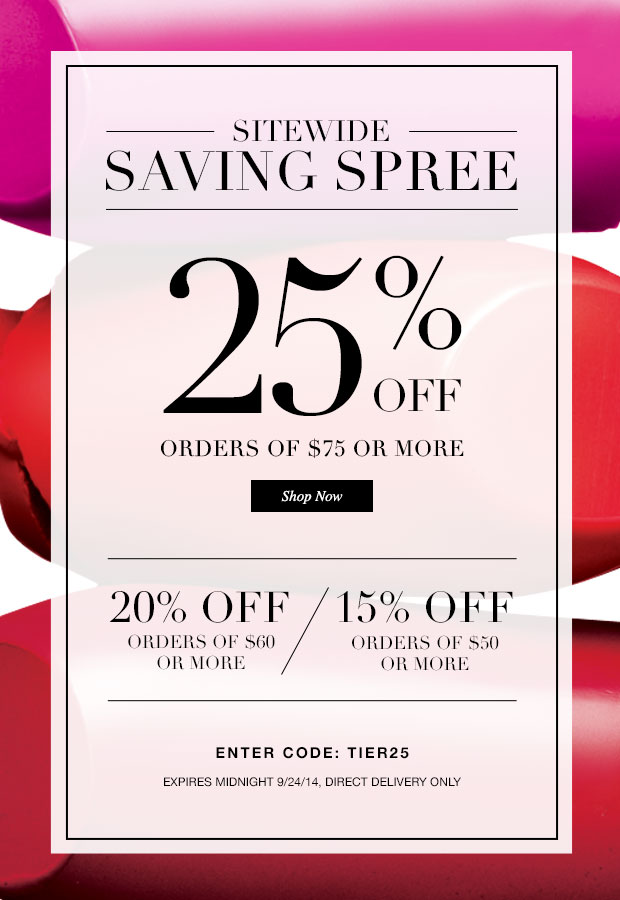 25 discount coupon