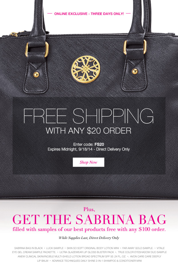 Free Shipping Avon Coupon Code FS20