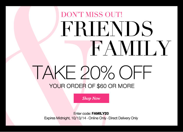 Avon Coupon Code FAMILY20