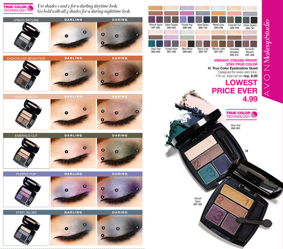 Avon True Color Eye Shadow Quad