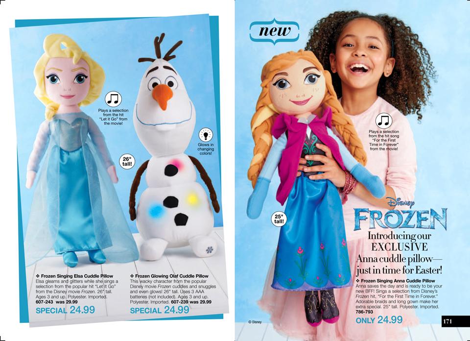 Avon Disney Frozen Anna Cuddle Pillow
