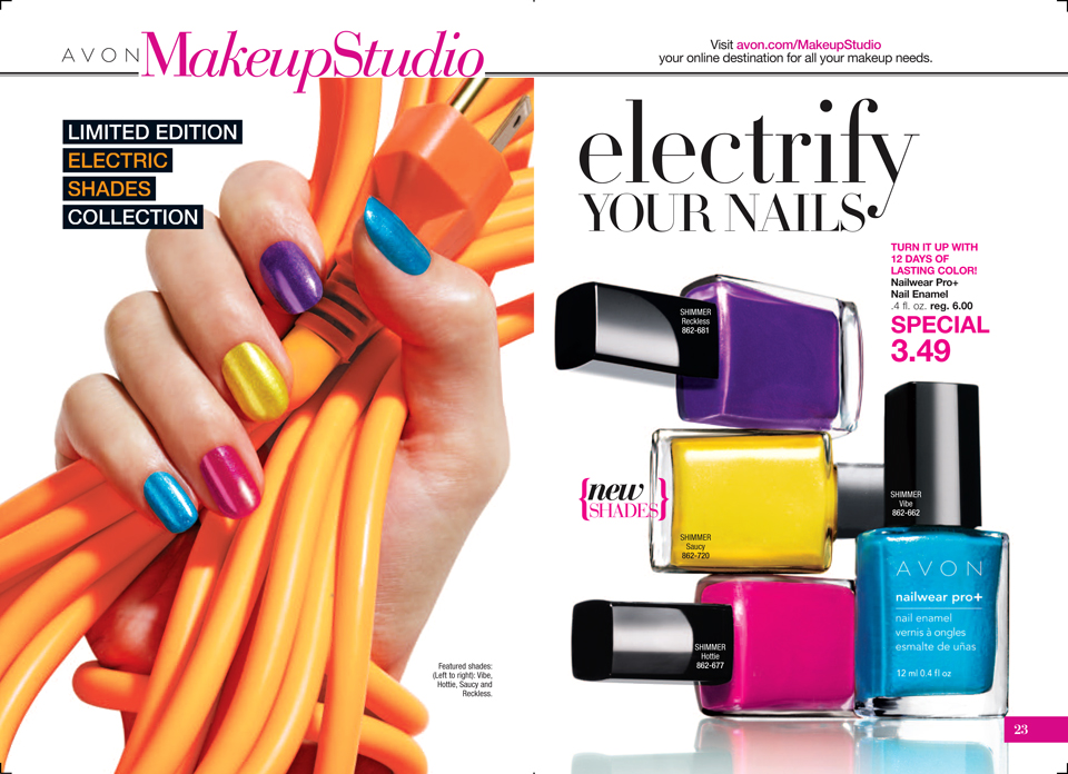 Avon Nailwear Pro+ Nail Enamel - Electric Shades