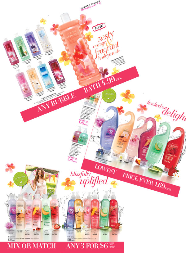 Avon Naturals Bath and Body Products