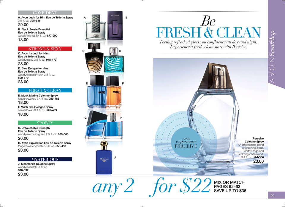 Avon Perceive Cologne Spray for Men