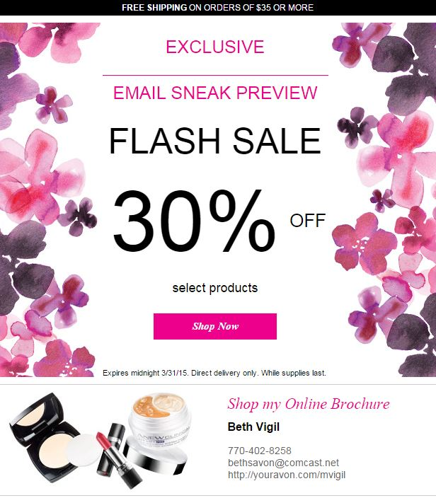 Avon Flash Sale 30 Percent
