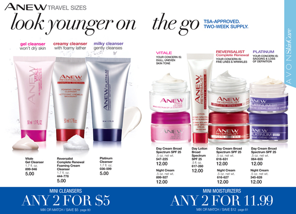 Avon Anew Travel Sizes