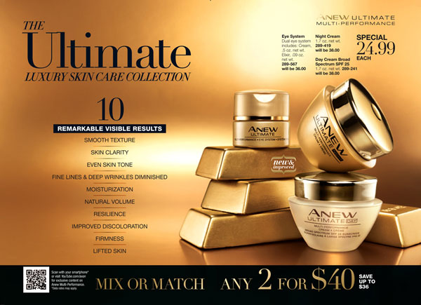 Avon Anew Ultimate Luxury Skin Care Collection