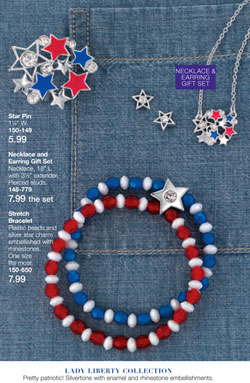Avon Lady Liberty Jewelry Collection