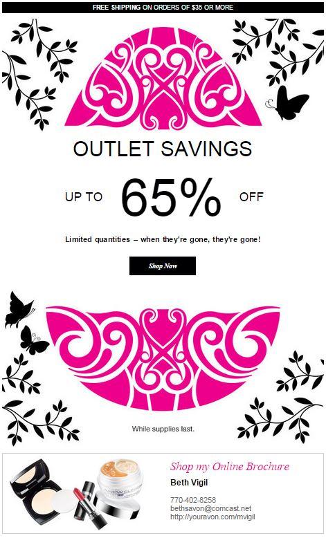 Avon Outlet Savings C10 2015