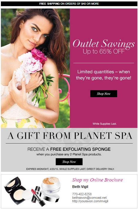 Avon Outlet Savings C12 2015