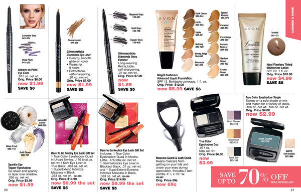 Avon Outlet Savings Makeup