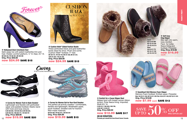 Avon Outlet Savings Shoes