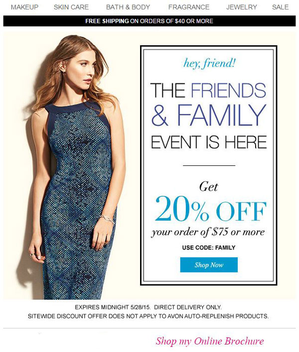Avon Coupon Code FAMILY