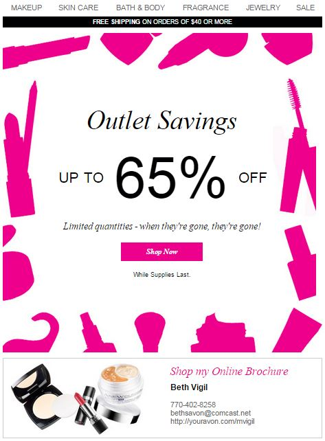 Avon Outlet Savings C14 2015