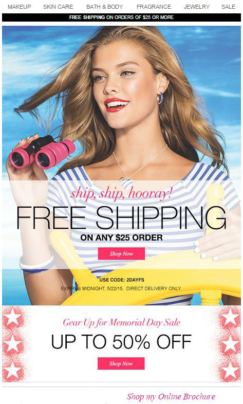 Free Shipping Memorial Day