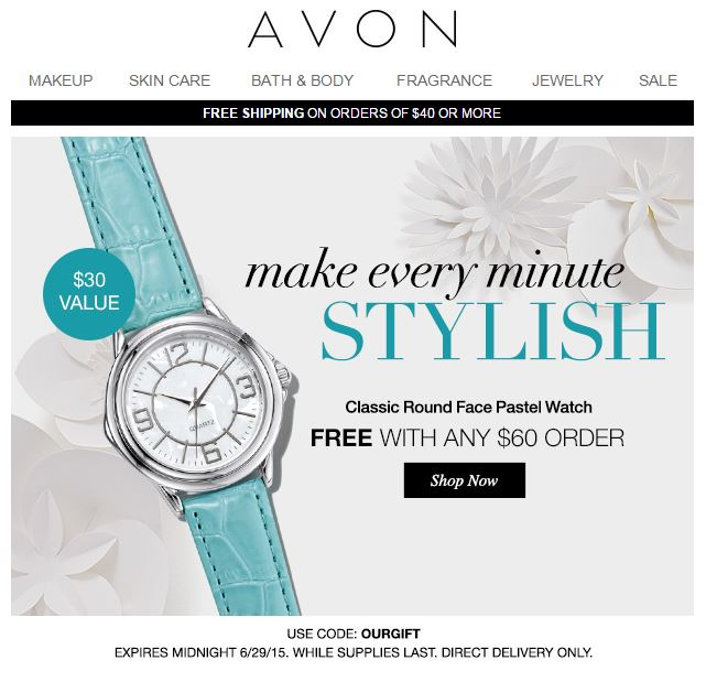 Avon Coupon Code OURGIFT