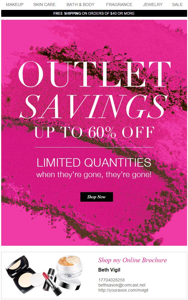Avon Outlet Savings C16 2015