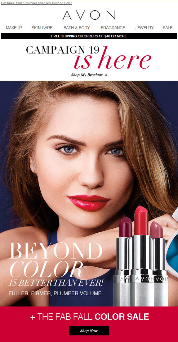 Buy Avon Online C19 2015