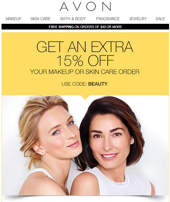 Avon Coupon Code BEAUTY