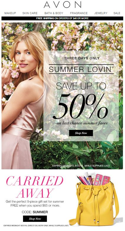 Avon Coupon Code SUMMER