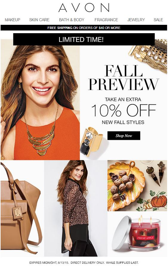 Avon Fall Preview