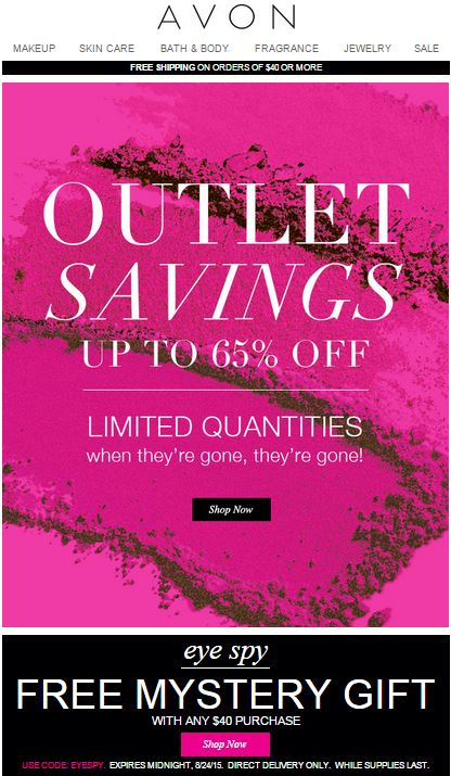 Avon Outlet Savings C21 2015