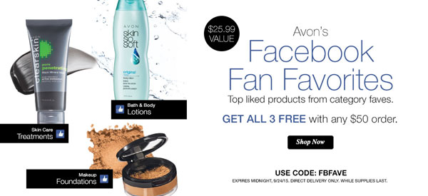 Avon Coupon Code FBFAVE