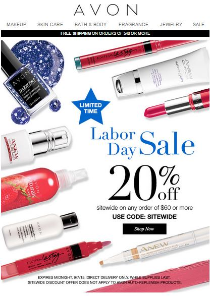 Labor Day Coupon SITEWIDE