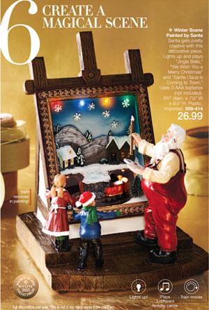 Winter Scene Painted by Santa