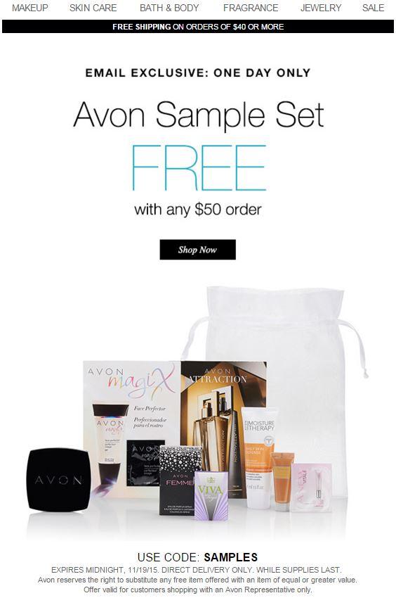 Avon Coupon Code SAMPLES