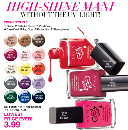 Avon Gel Finish 7-in-1 Nail Enamel